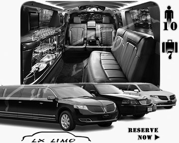 Stretch Limo airport shuttle in Tampa