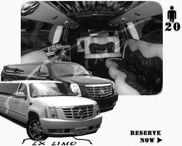 Cadillac Escalade 20 passenger SUV Limousine for rental in Tampa, FL
